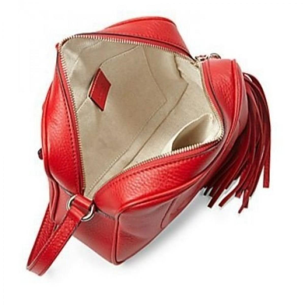Bolsa Gucci Pequena Inspired : R?plica de bolsa gucci soho disco vermelha