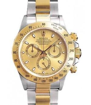 Relógio Réplica Rolex Daytona Dourado Prata