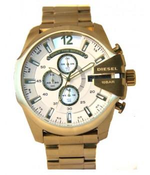 Relógio Réplica Diesel Only The Brave Dourado Branco