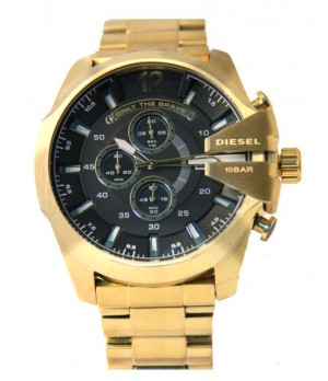 Relógio Réplica Diesel Only The Brave Gold Black