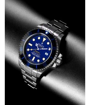 Relógio Réplica Rolex Seadweller Azul Bamford