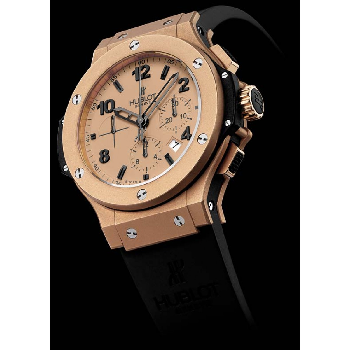 f7438007970 Relógio Réplica Hublot Geneve Gold