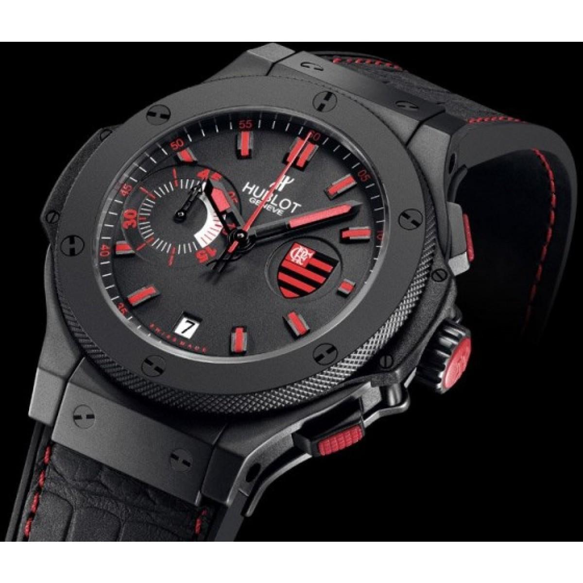 93ab51ad11cd8 Relógio Réplica Hublot Flamengo