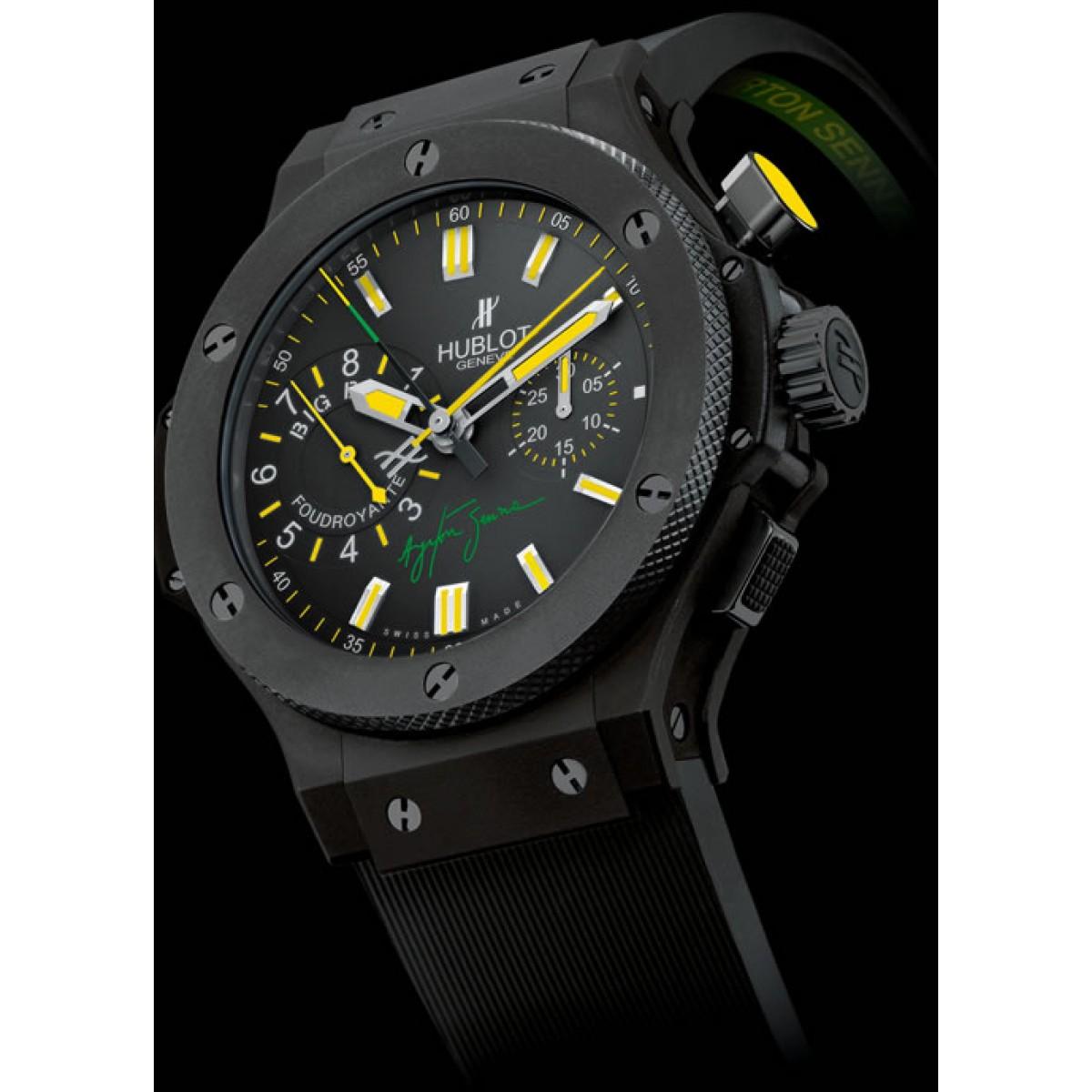 e1c76cb4bfd Relógio Réplica Hublot Ayrton Senna