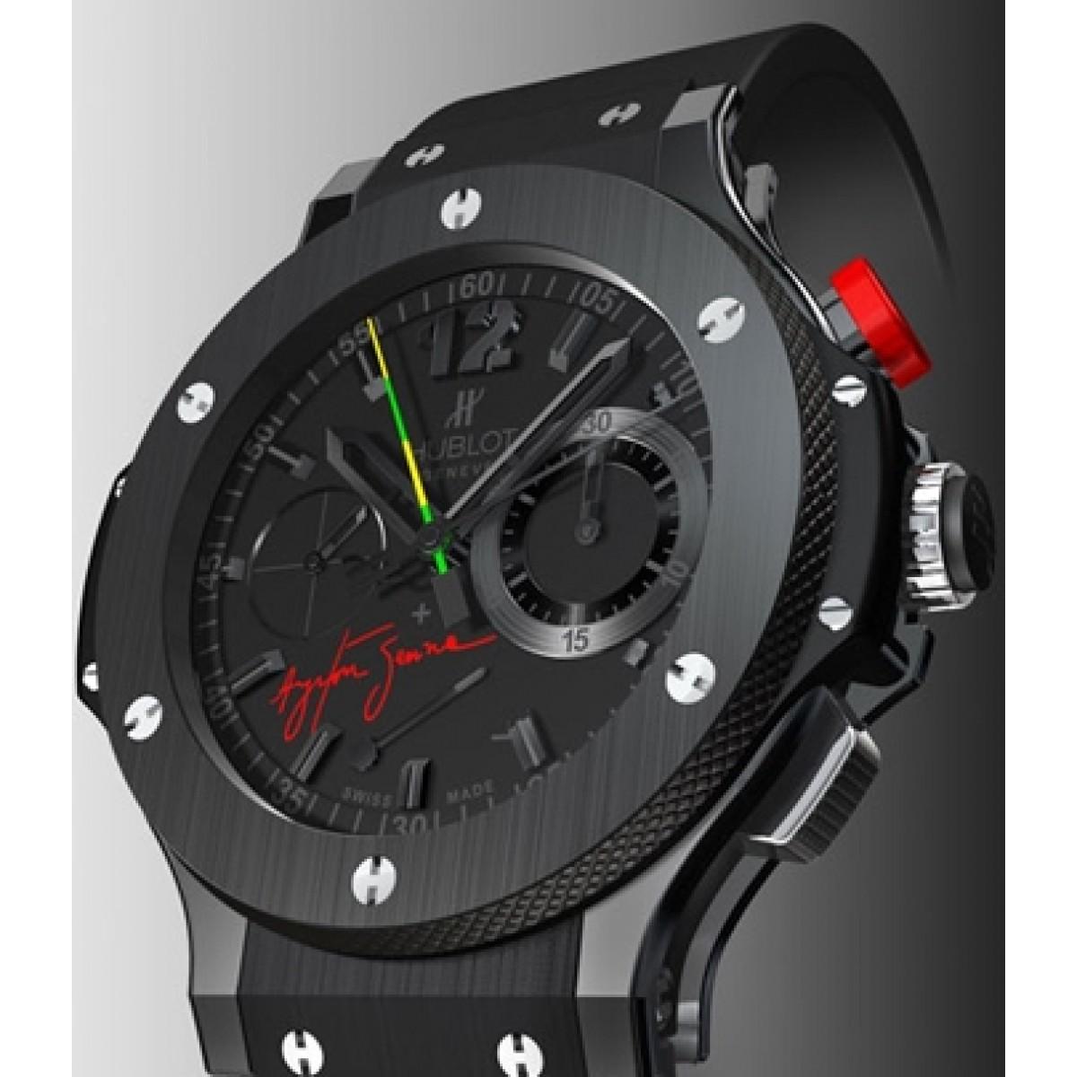 6c48239f971 Relógio Réplica Hublot Big Band Black Ceramic Ayrton Senna