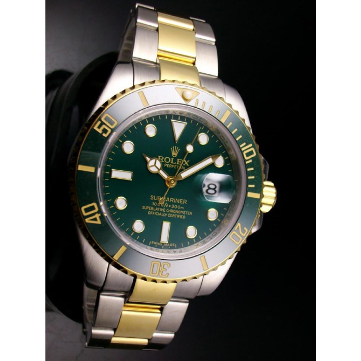 e26c7b438da Relógio Réplica Rolex Submariner Dark Green Misto