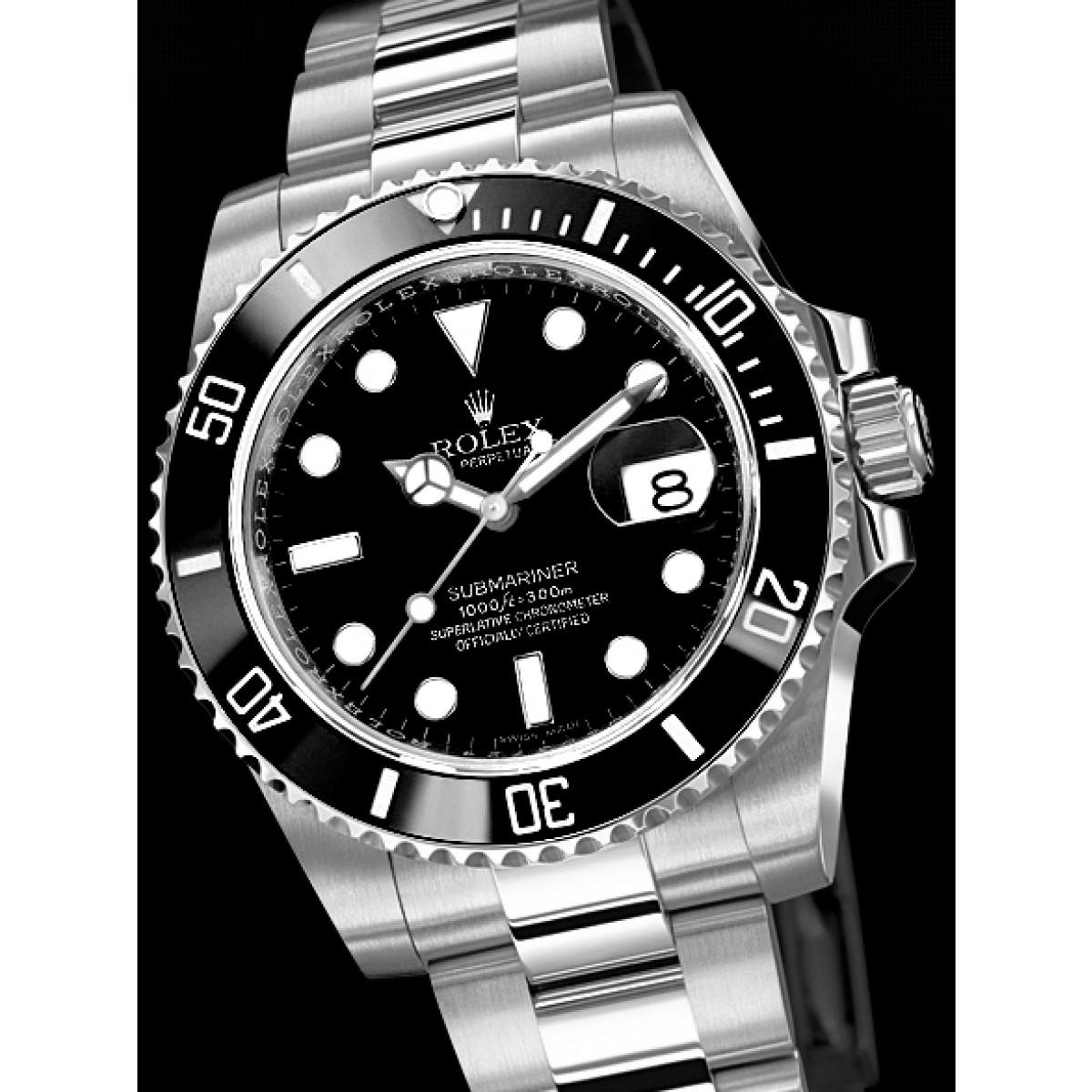 5d7eaa64b7b Relógio Réplica Rolex Submariner Black