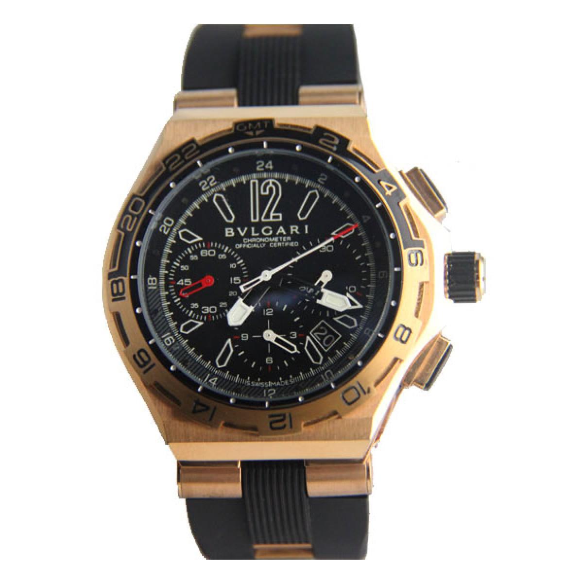 Relógio Réplica Bulgari X Pro Gold 9e596fe5fa