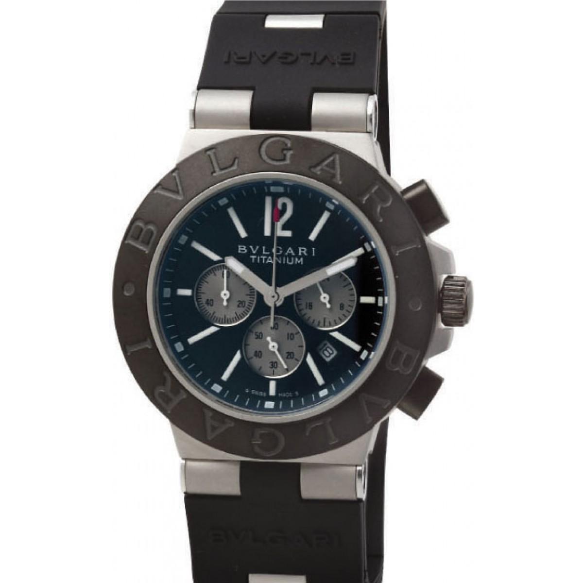 ff8f37825d7 Relógio Réplica Bulgari Titanium Black
