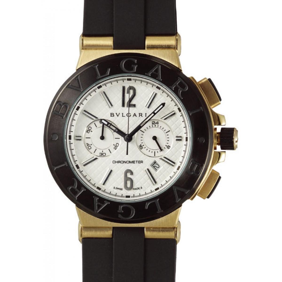 ef78163f109 Espiar · Relógio Réplica Bulgari Titanium Dourado