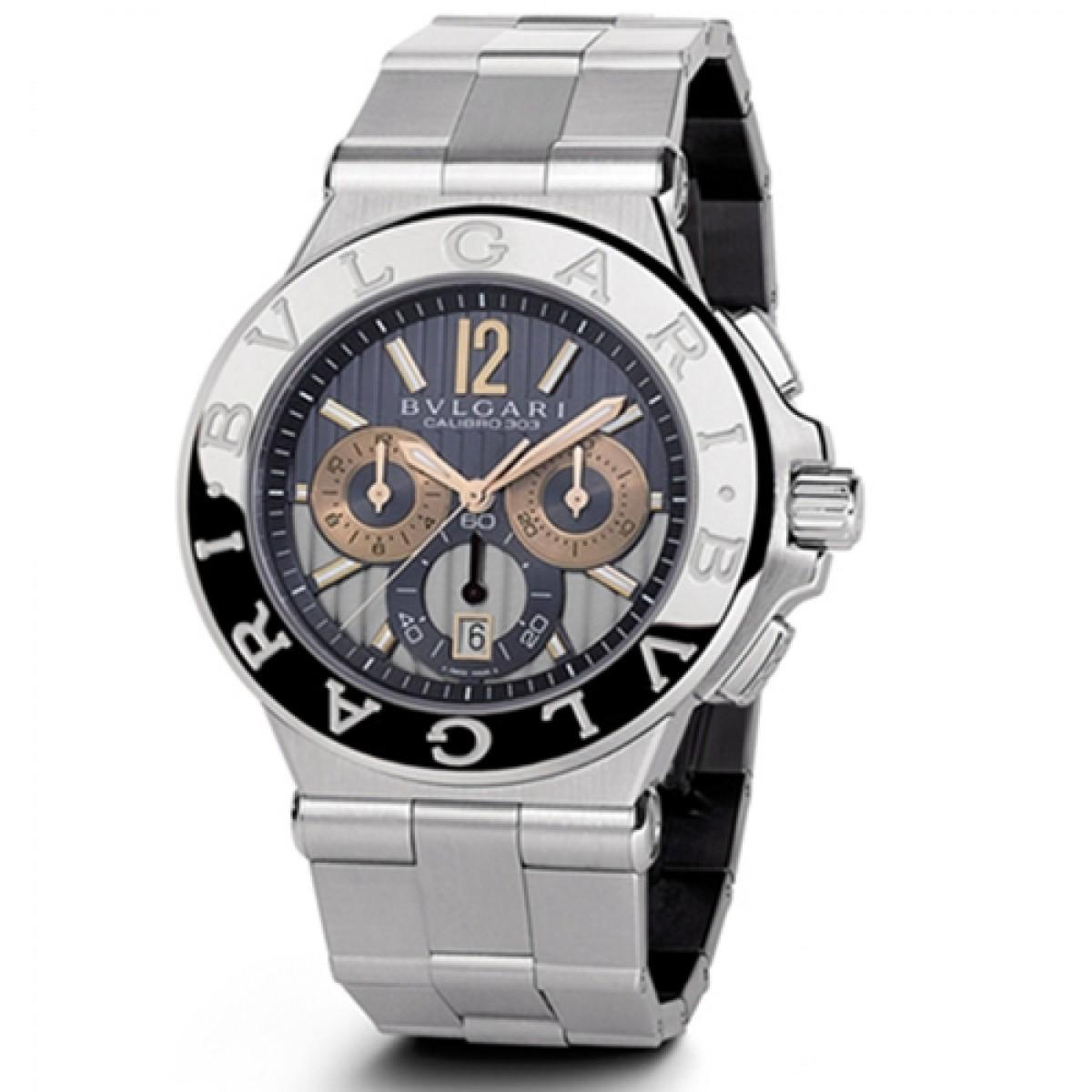 25c43a011e1 Relógio Réplica Bulgari Diagono Calibro 303