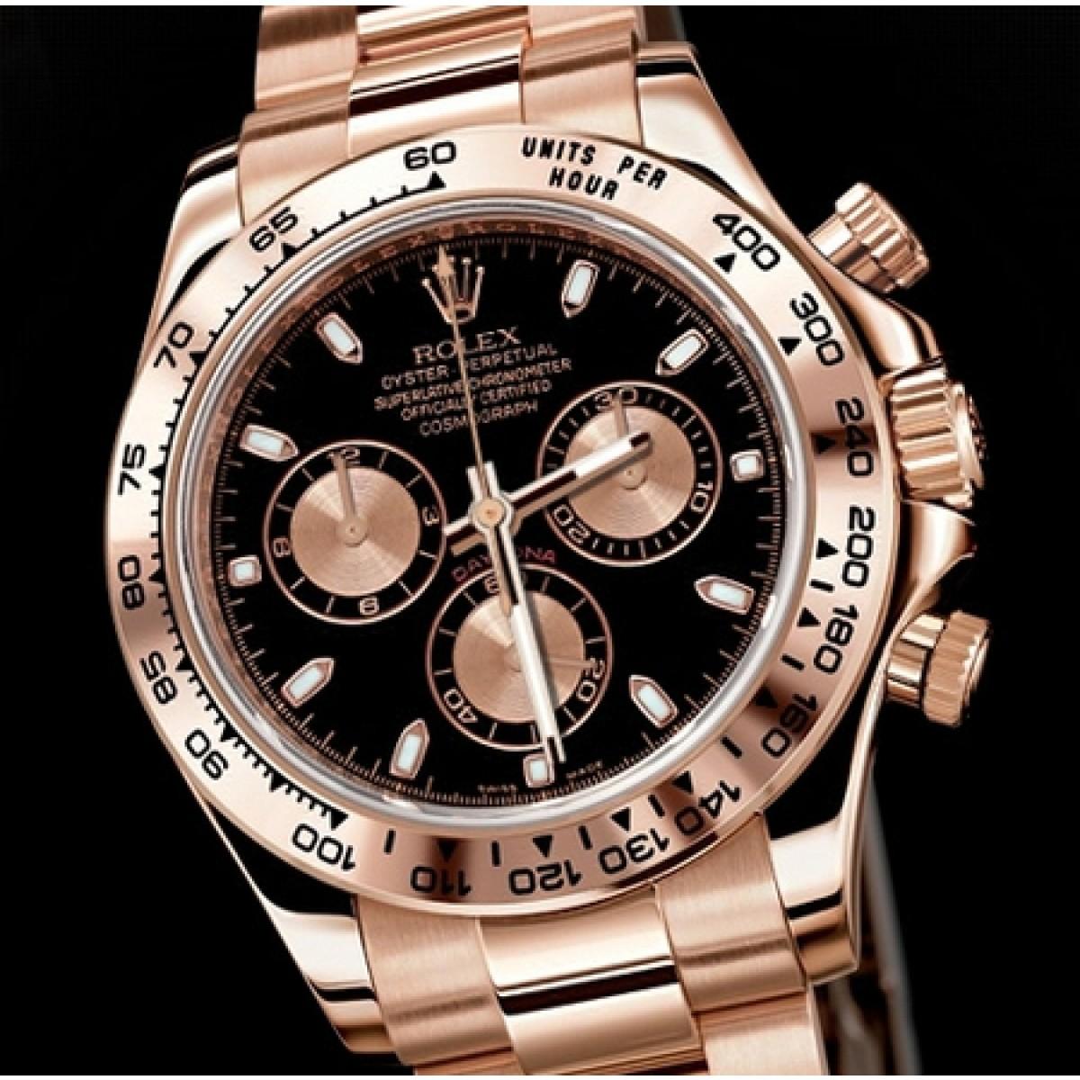 6c6735547f0 Relógio Réplica Rolex Oyster Perpetual Black Gold