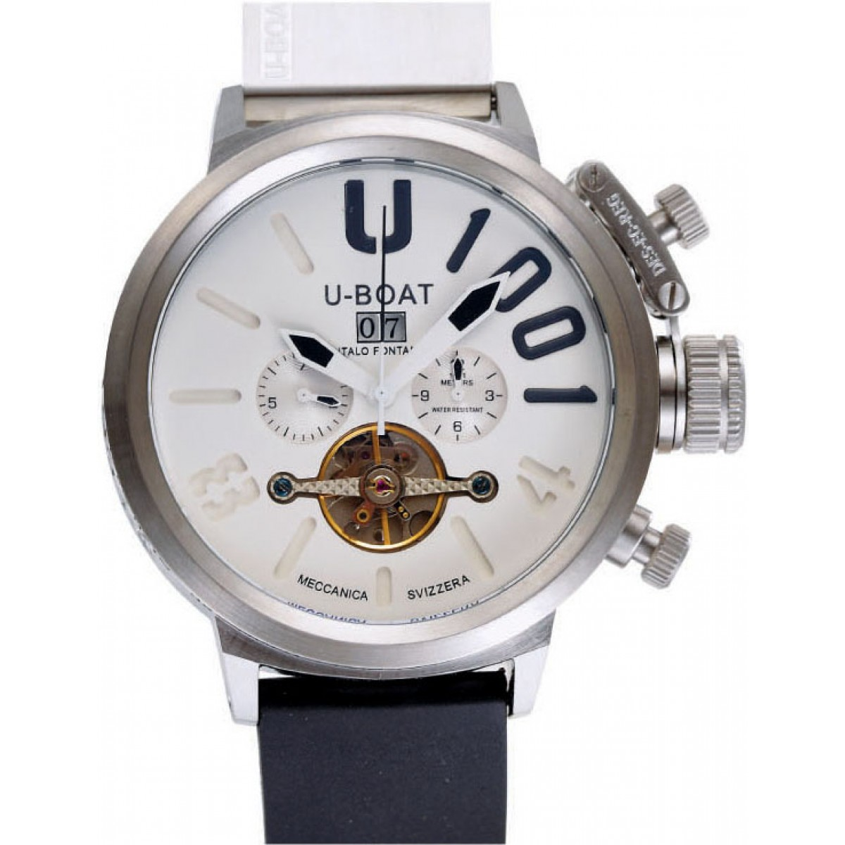 308a4ad31cb Relógio Réplica U-Boat U-1001 Branco