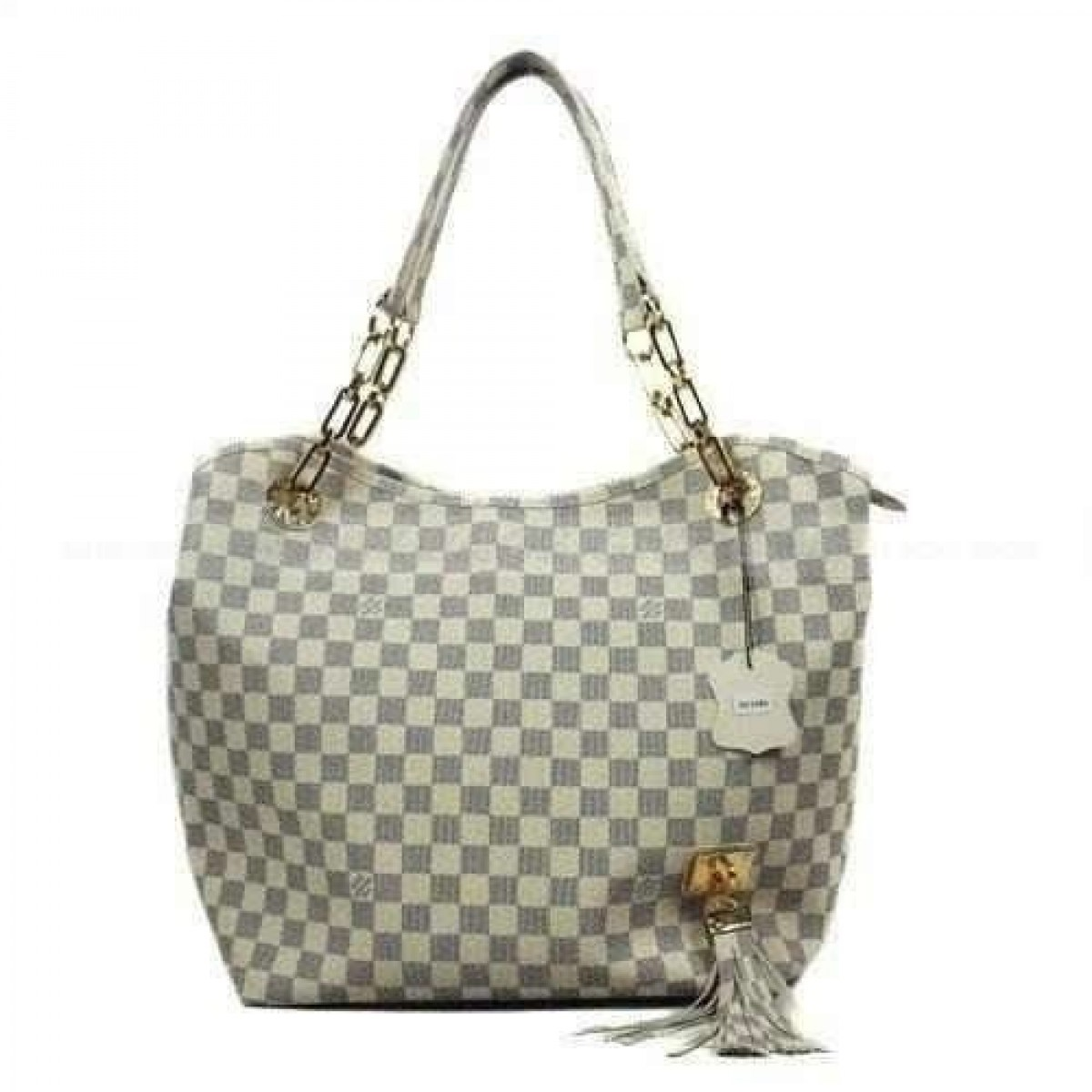 6dec319a36f44 Réplica de Bolsa Louis Vuitton Grife Whisper Damier Azur