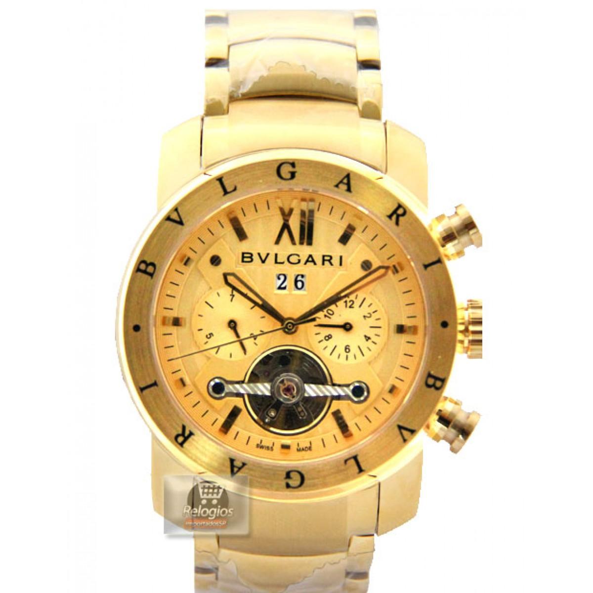 838511c8f00db Relógio Réplica Bulgari X Men Gold