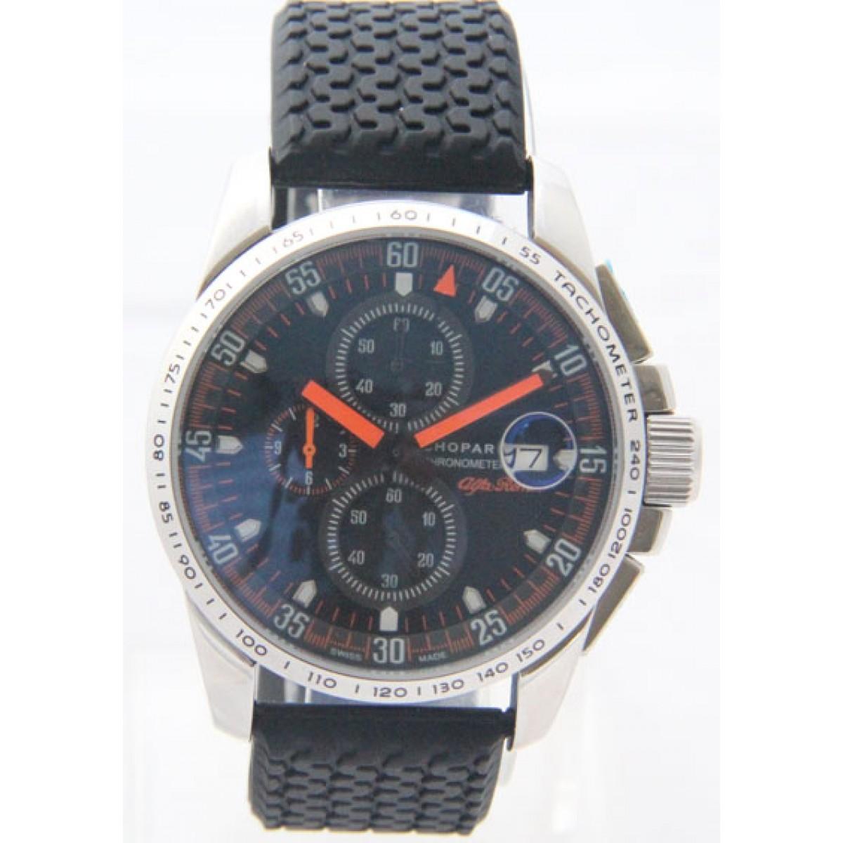 e817ccc6562 Relógio Réplica Chopard Alfa Romeo Preto Laranja