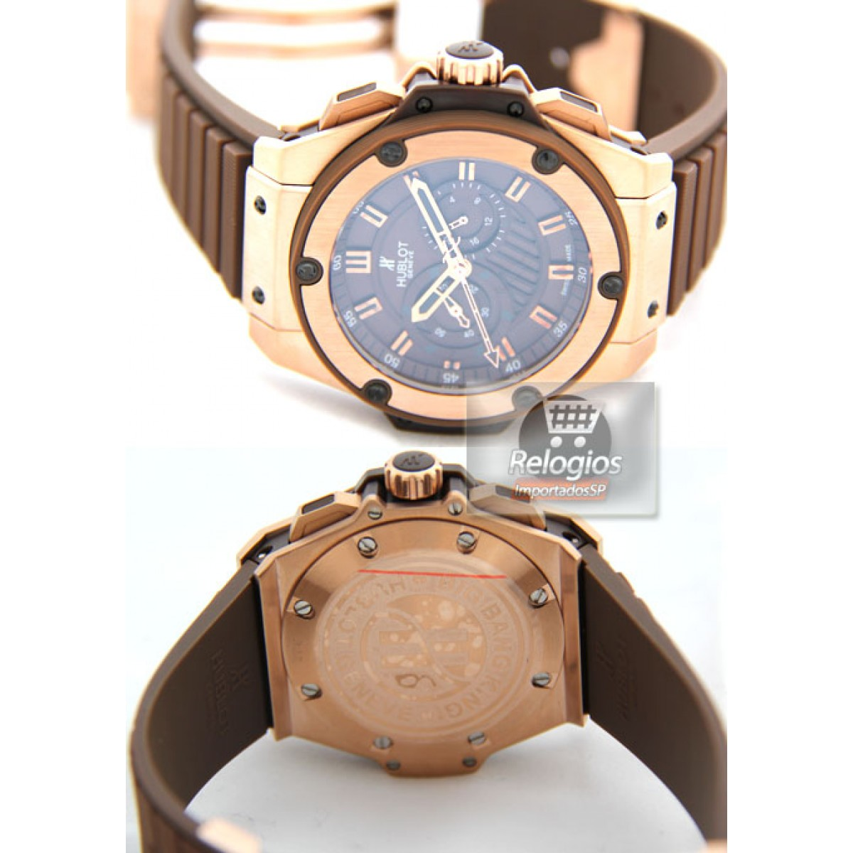 78c0260f5ab Relógio Réplica Hublot King Power Chocolate