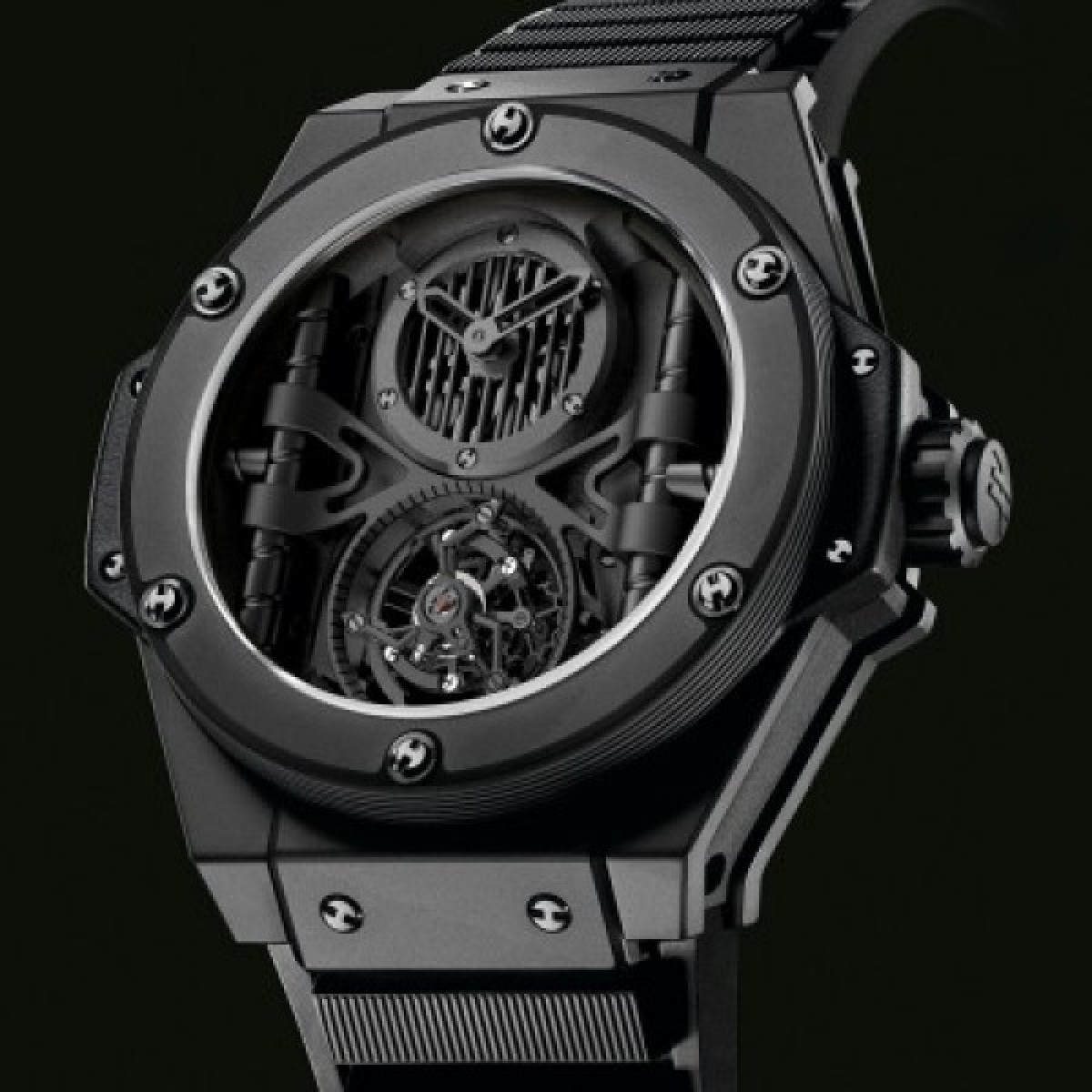 f4cc6522ac7 Espiar · Relógio Réplica Hublot King Power All Black Ediiton Limited