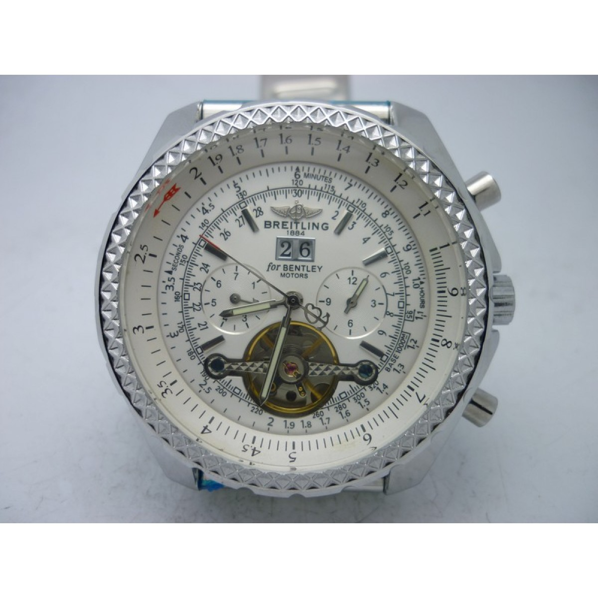 13a9168fea4 Réplica Breitling Bentley Motors White Turbillon