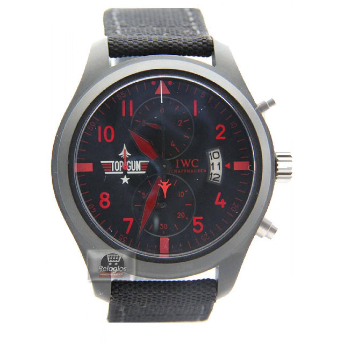b27cfc250cd Relógio Réplica Iwc Top Gun Red