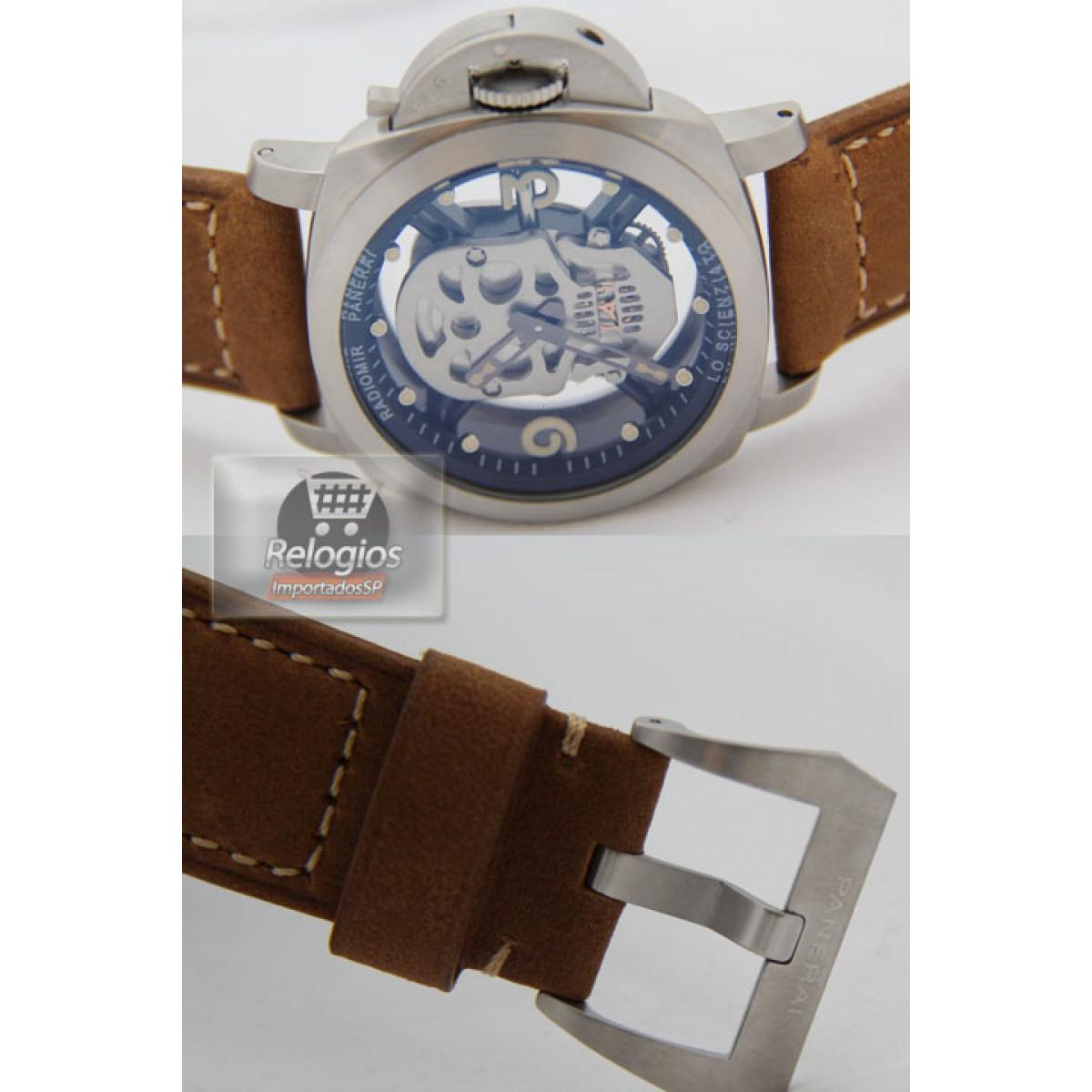 d85ebf38216 Relógio Réplica Panerai Radiomir Caveira Stell