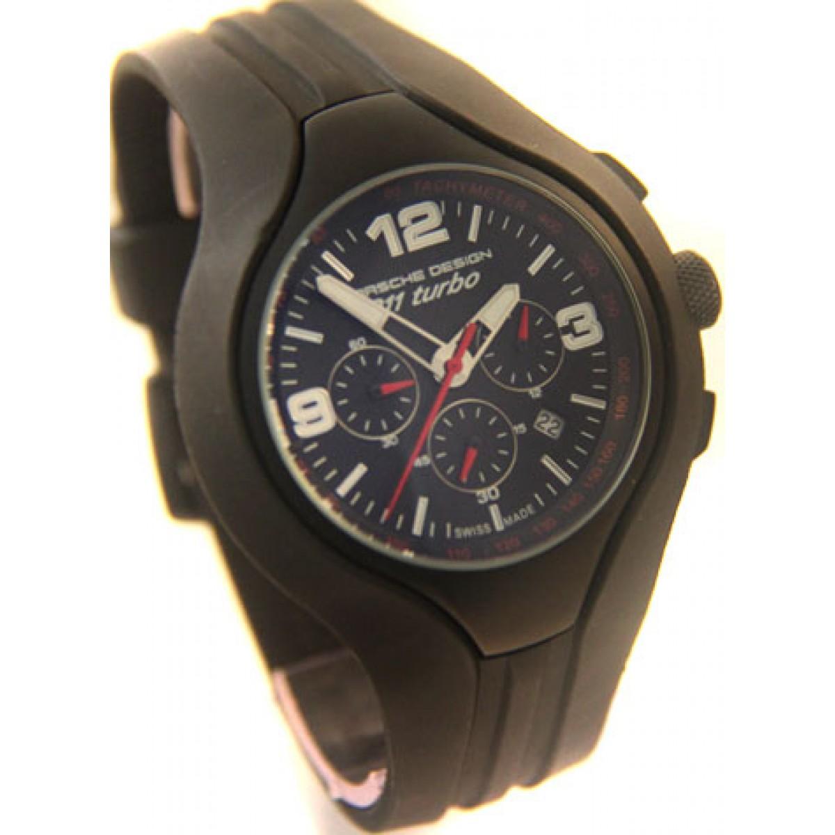 4bb0cb77b85 Relógio Réplica Porche Design 911 Turbo Black