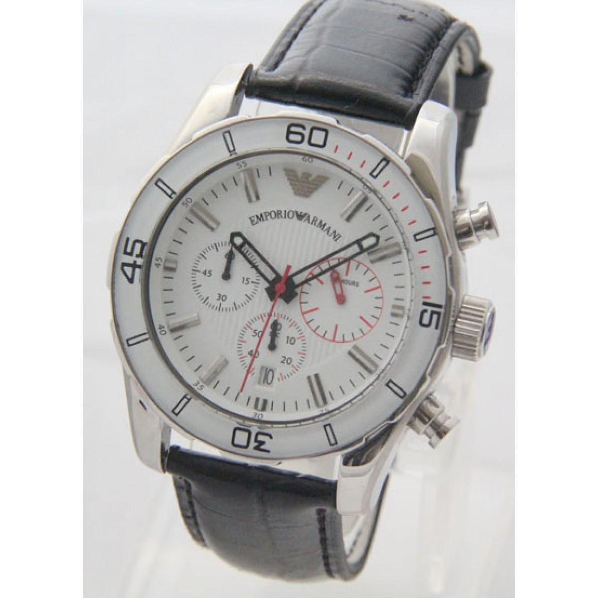2c11f21c2be Relógio Réplica Armani Branco Couro ( Promoção )
