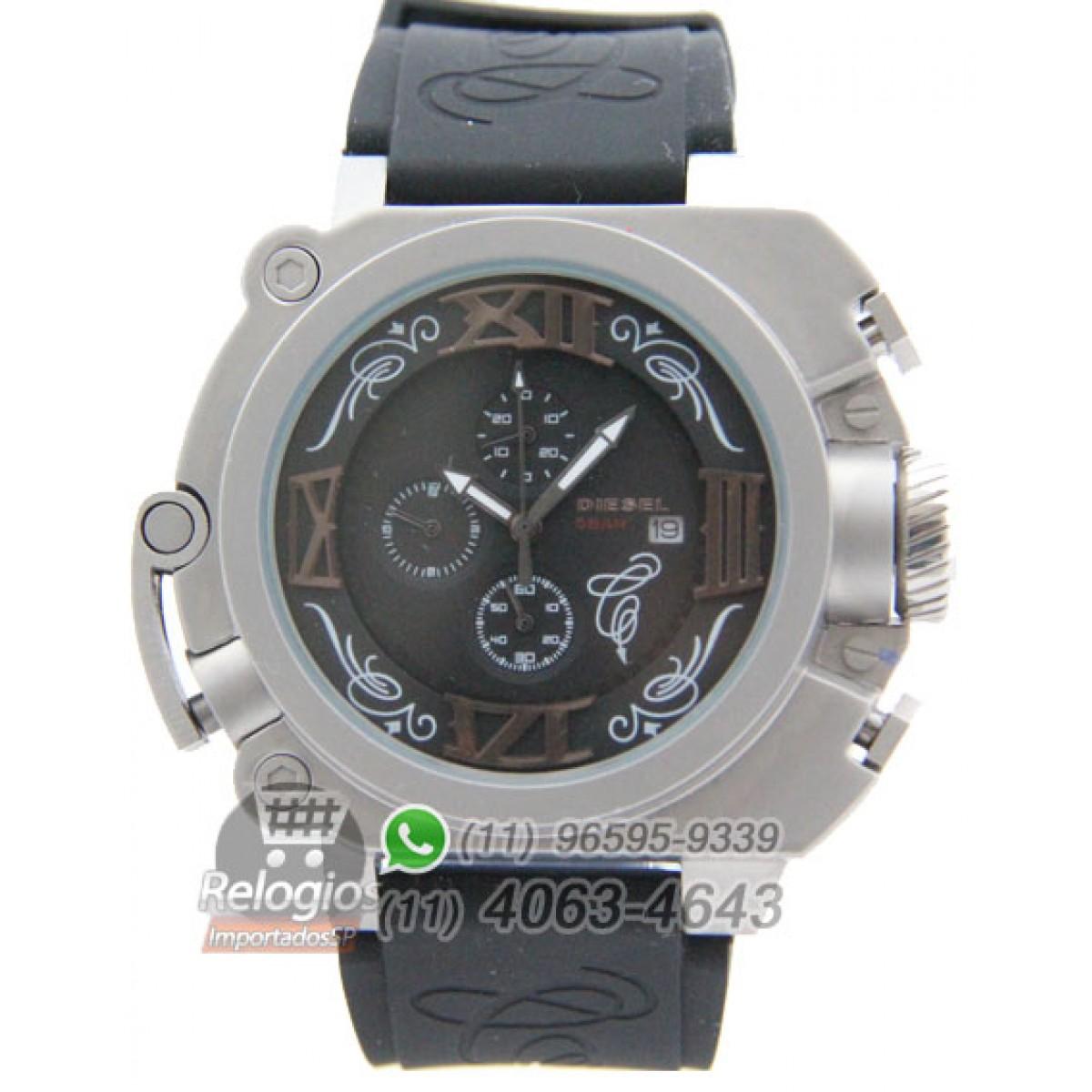 7b995436f50 Relógio Réplica Diesel Batman Prata Preto ( PROMOÇÃO )
