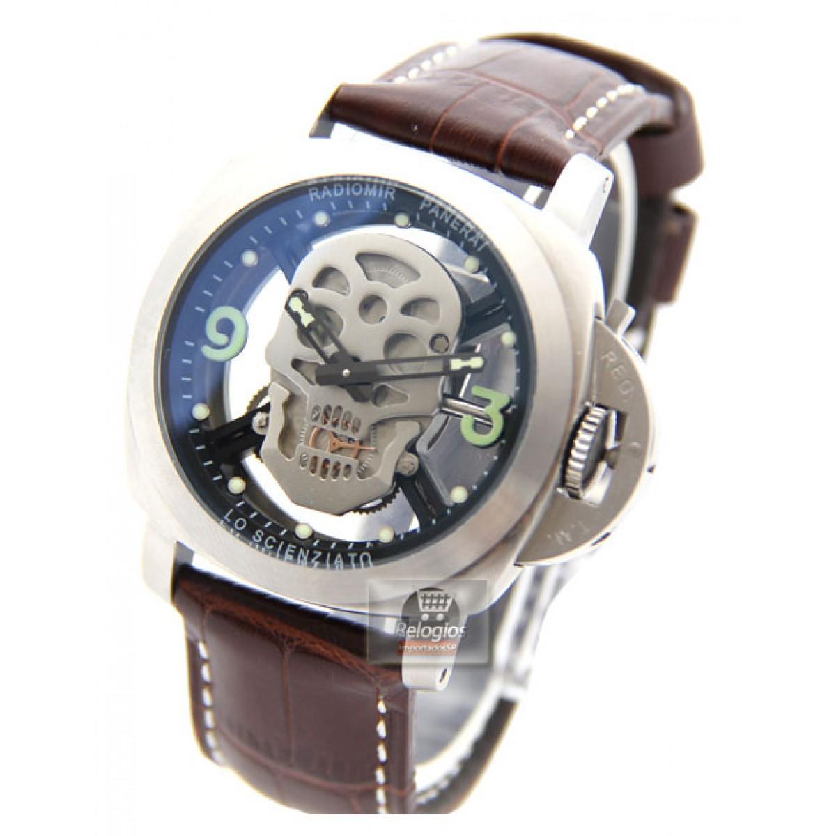 05a552da353 Relógio Réplica Panerai Radiomir Caveira