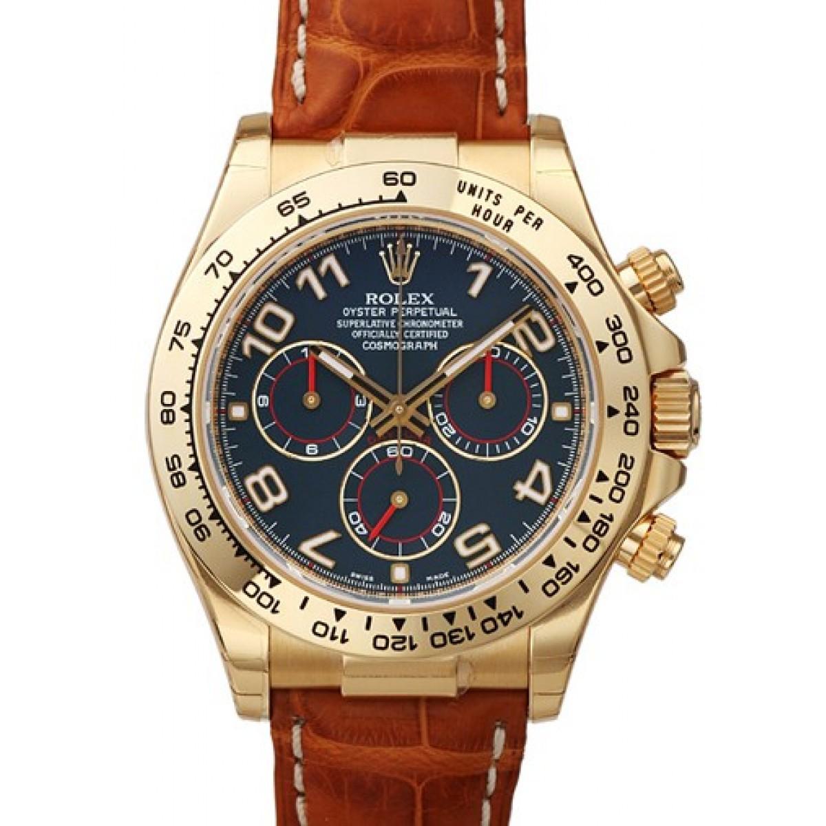 678c52e2582 Relógio Réplica Rolex Daytona Gold Blue