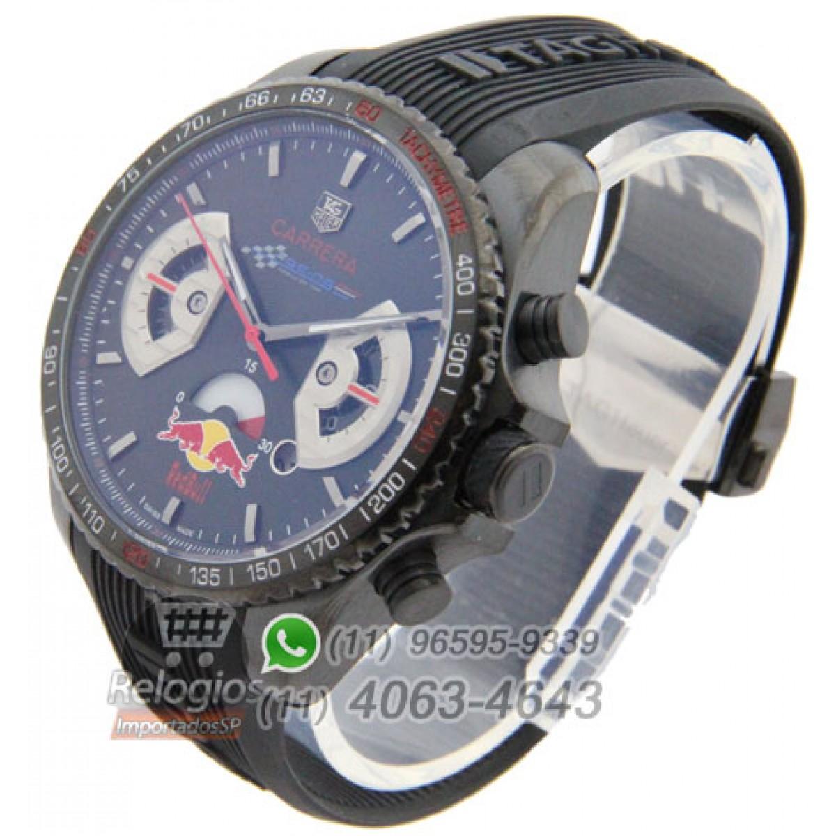 dbc708f20bf Relógio Réplica Tag Heuer Carrera Racing Red Bull Racing