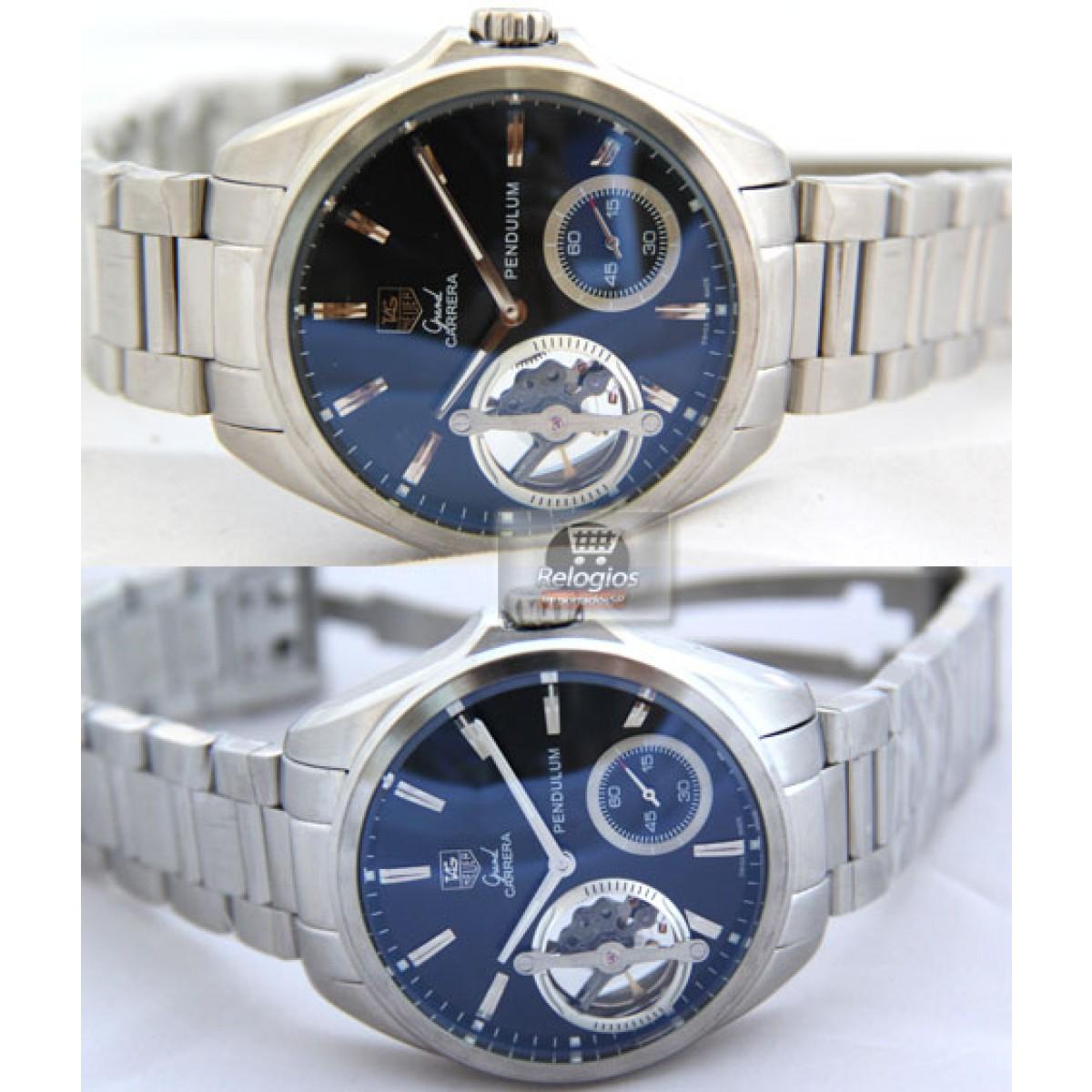 2b3571974d5 Relógio Réplica Tag Heuer Grand Carrera Pendulum
