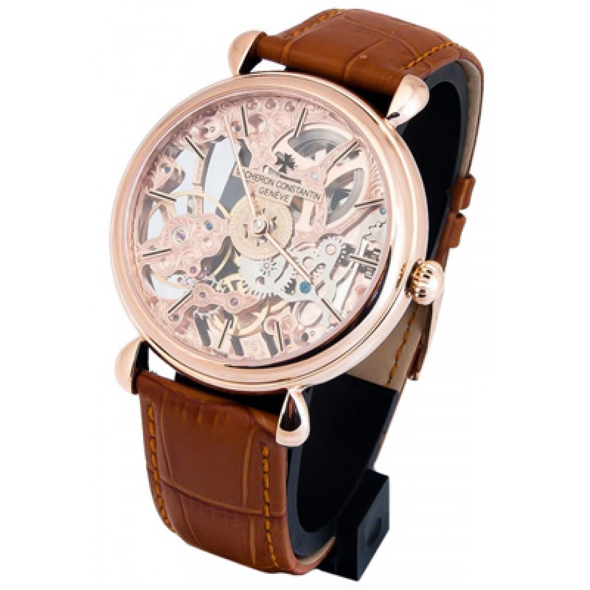 e9687a34d15 ... Esqueleto Rose Gold Edition Limited. Relógio Réplicas Vacheron  Constantin