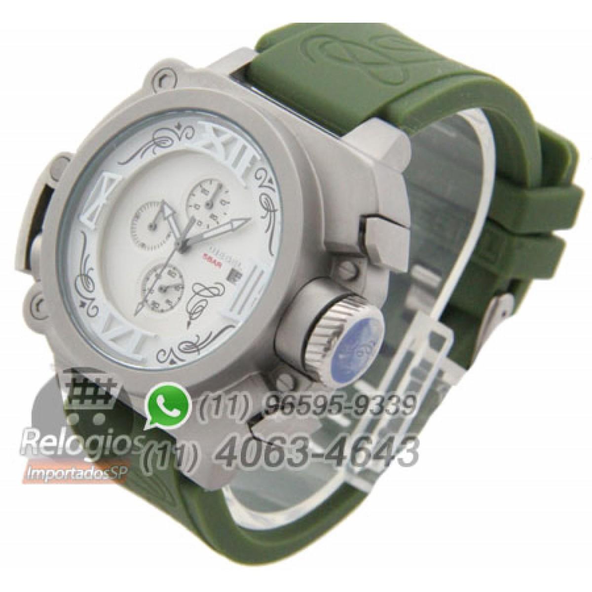 507ba2462f7 Relógio Réplica Diesel Batman Prata Verde ( PROMOÇÃO )