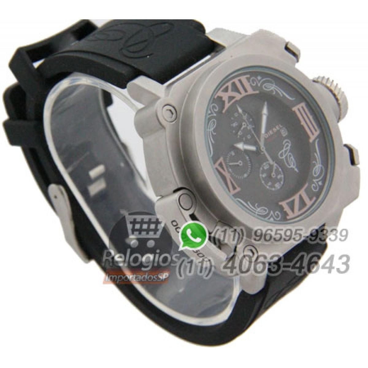 f9b0af14d6f Relógio Réplica Diesel Batman Prata Preto ( PROMOÇÃO )