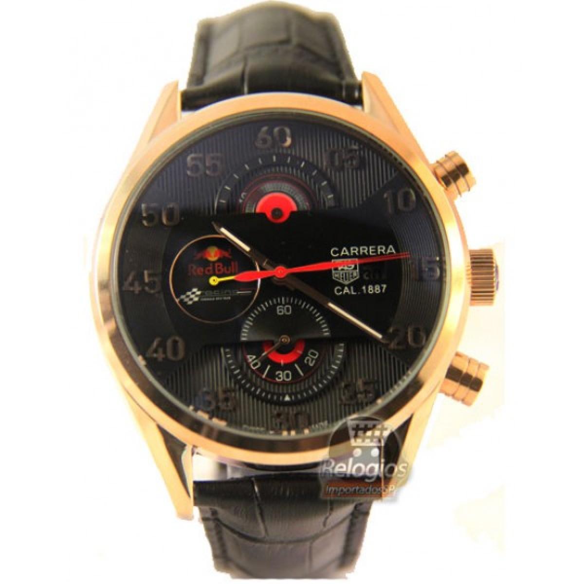 a0fc2a6a31d Espiar · Relógio Réplica Tag Heuer Red Bull