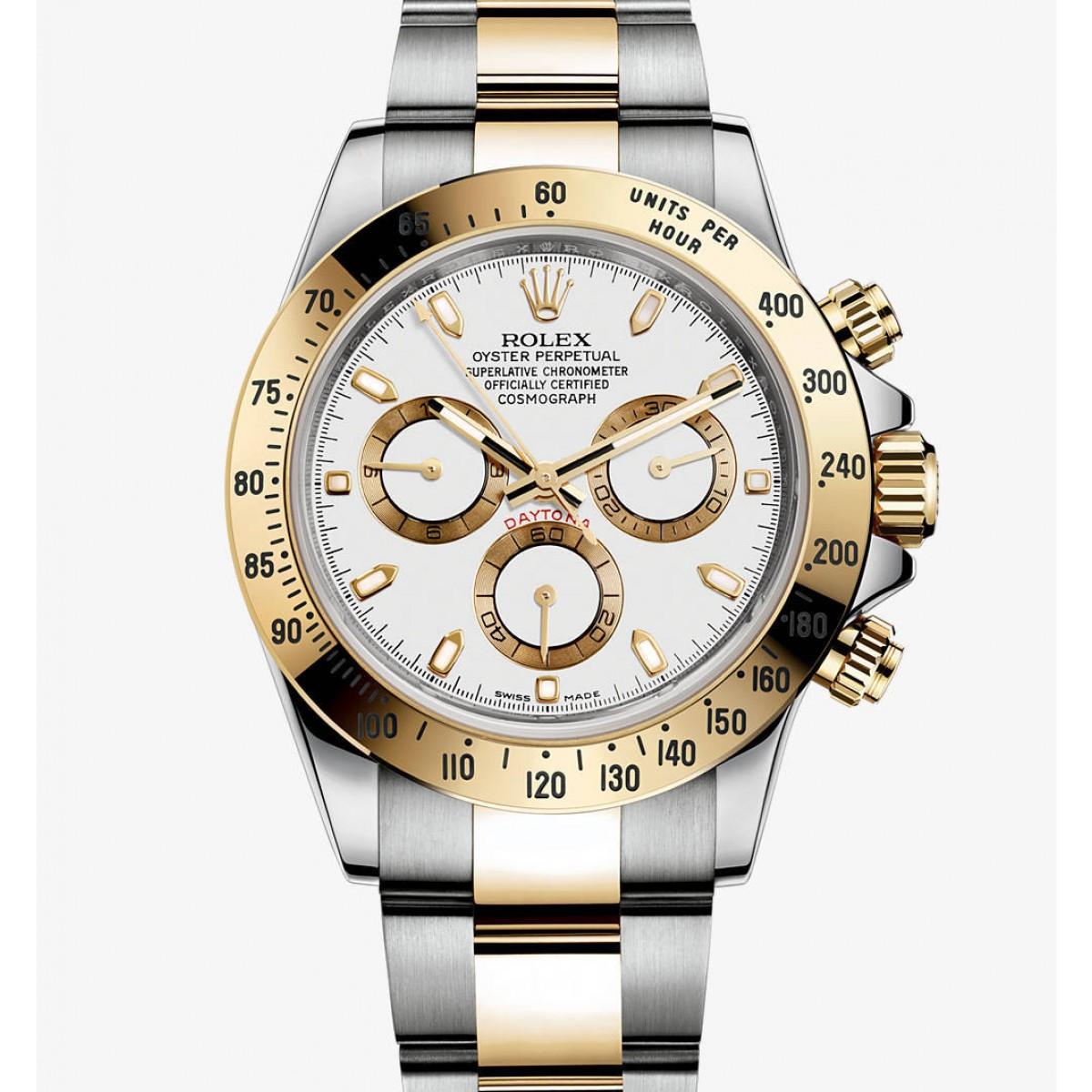 3b9b29e306e Relógio Réplica Rolex Daytona Gold White