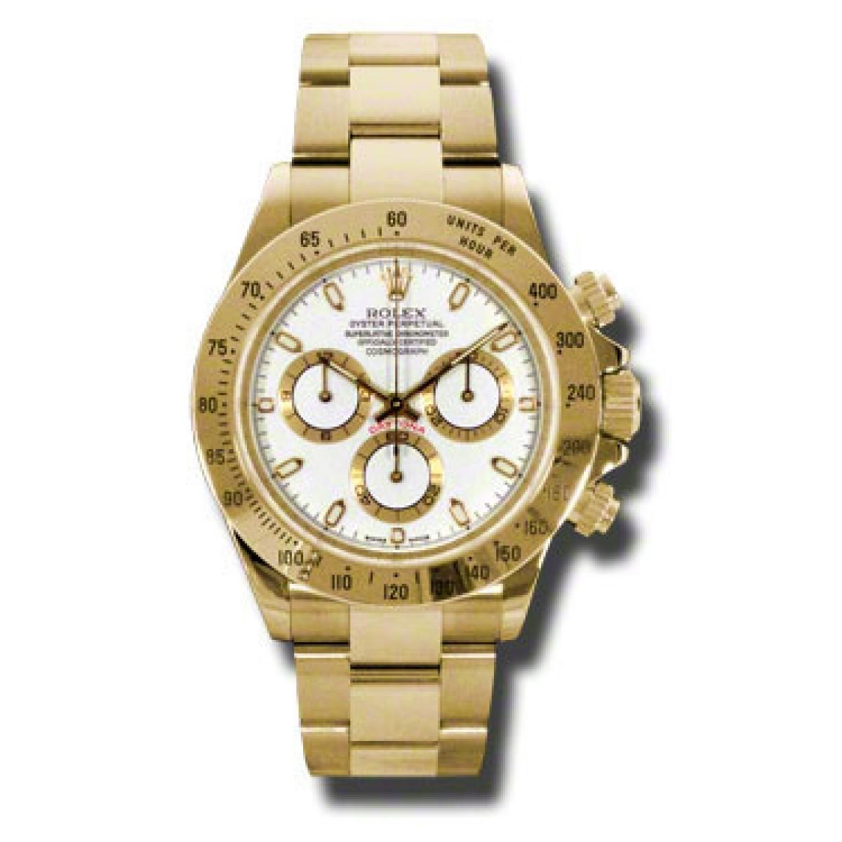 5990b04de8d Relógio Réplica Rolex Daytona Dourado Branco