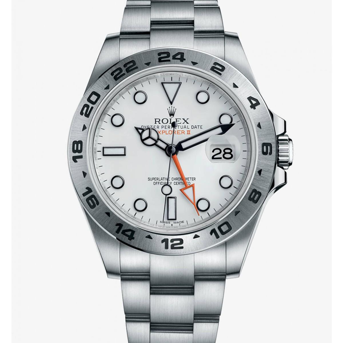 2f28f206341 Relógio Réplica Rolex Explorer ll Orange