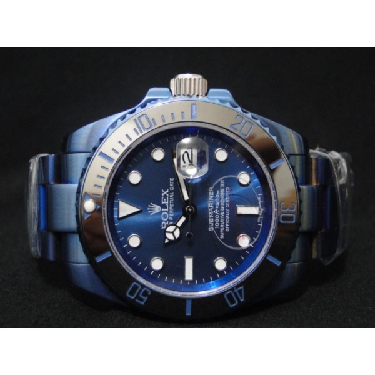 f8e418fc27d Relógio Réplica Rolex Submariner Blue · replica Relógio Réplica Rolex  Submariner Blue