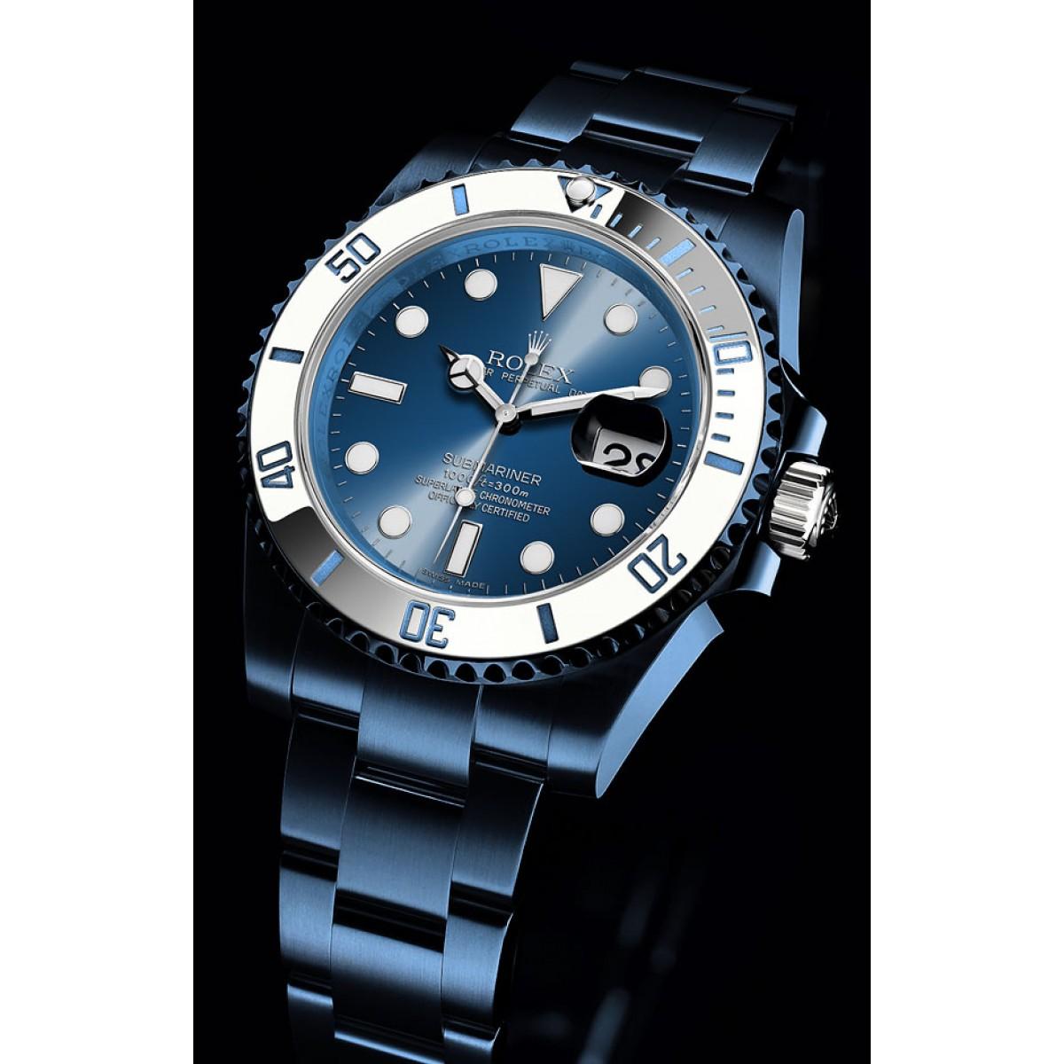 5c1dcdb5388 Relógio Réplica Rolex Submariner Blue