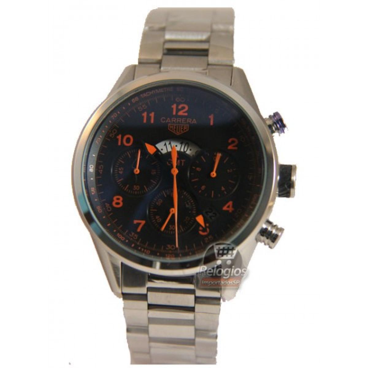 64fb4c9e7fb Relógio Réplica Tag Heuer Carrera Gmt Black
