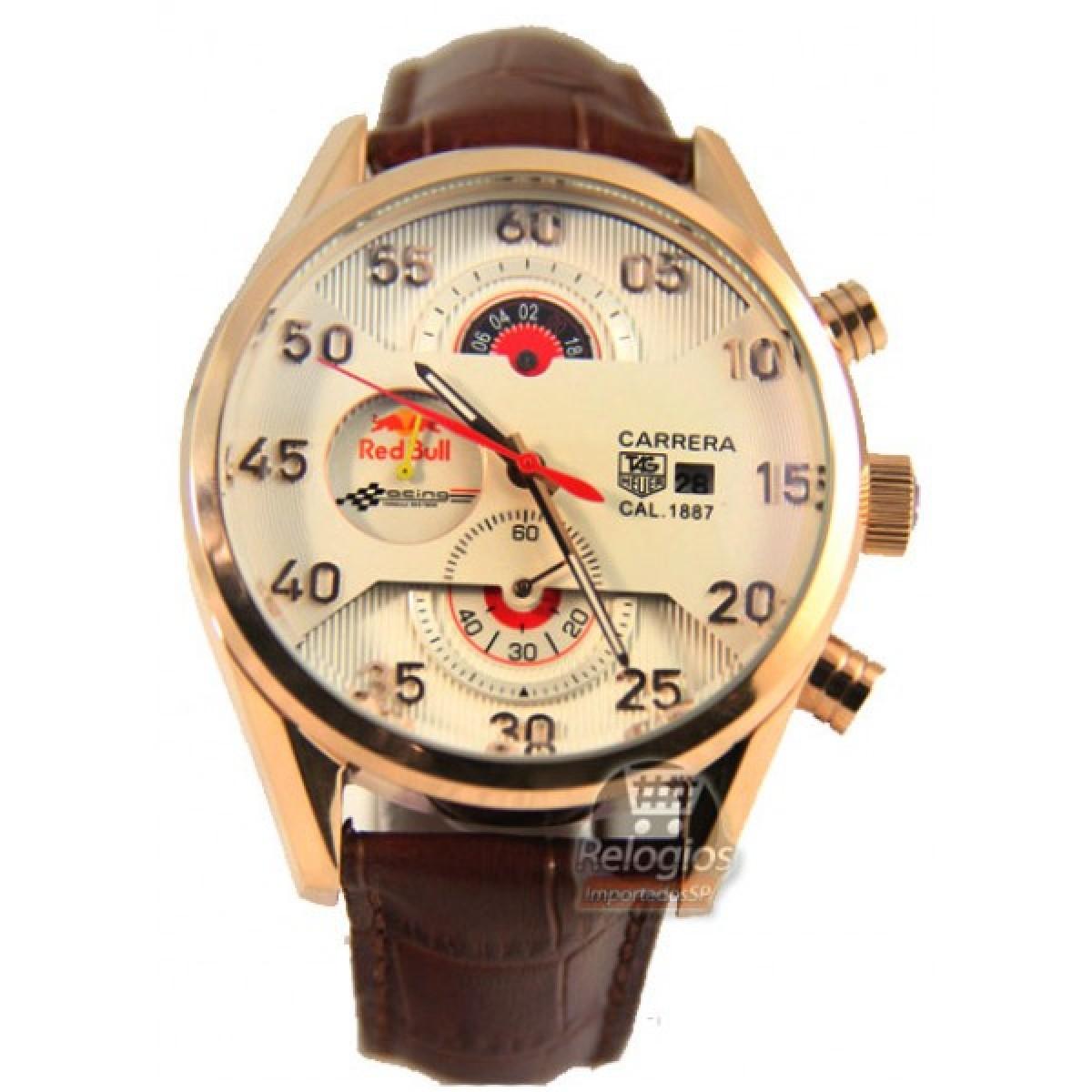 4dff10afe32 Relógio Réplica Tag Heuer Carrera Racing Red Bull