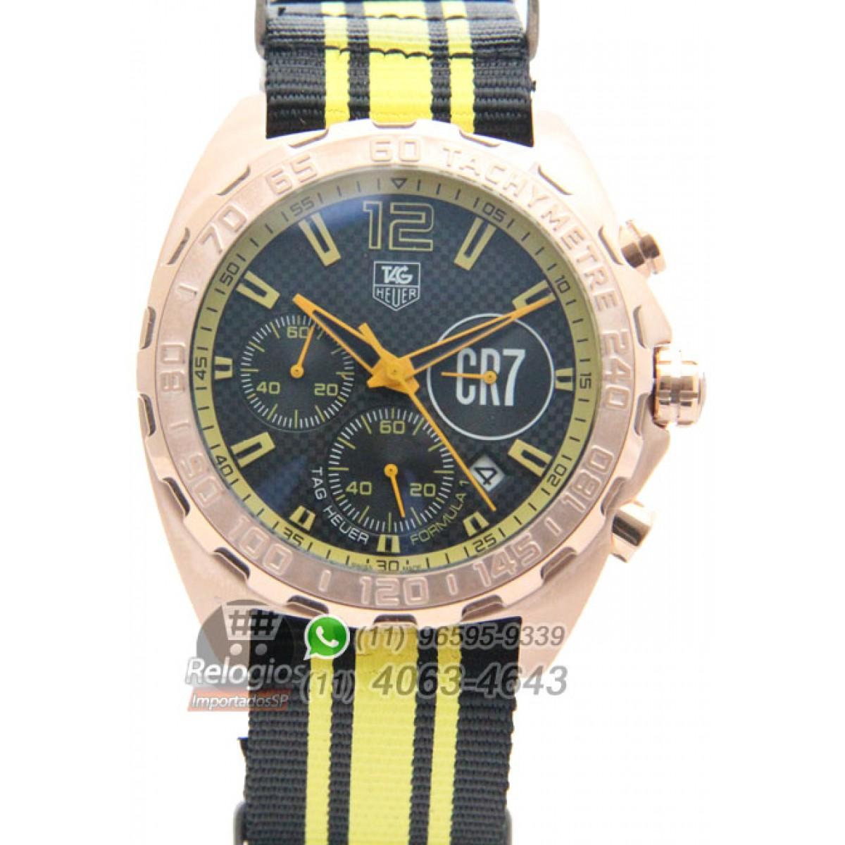 8cc351fb4b9 Relógio Réplica Tag Heuer Formula 1 Cr7