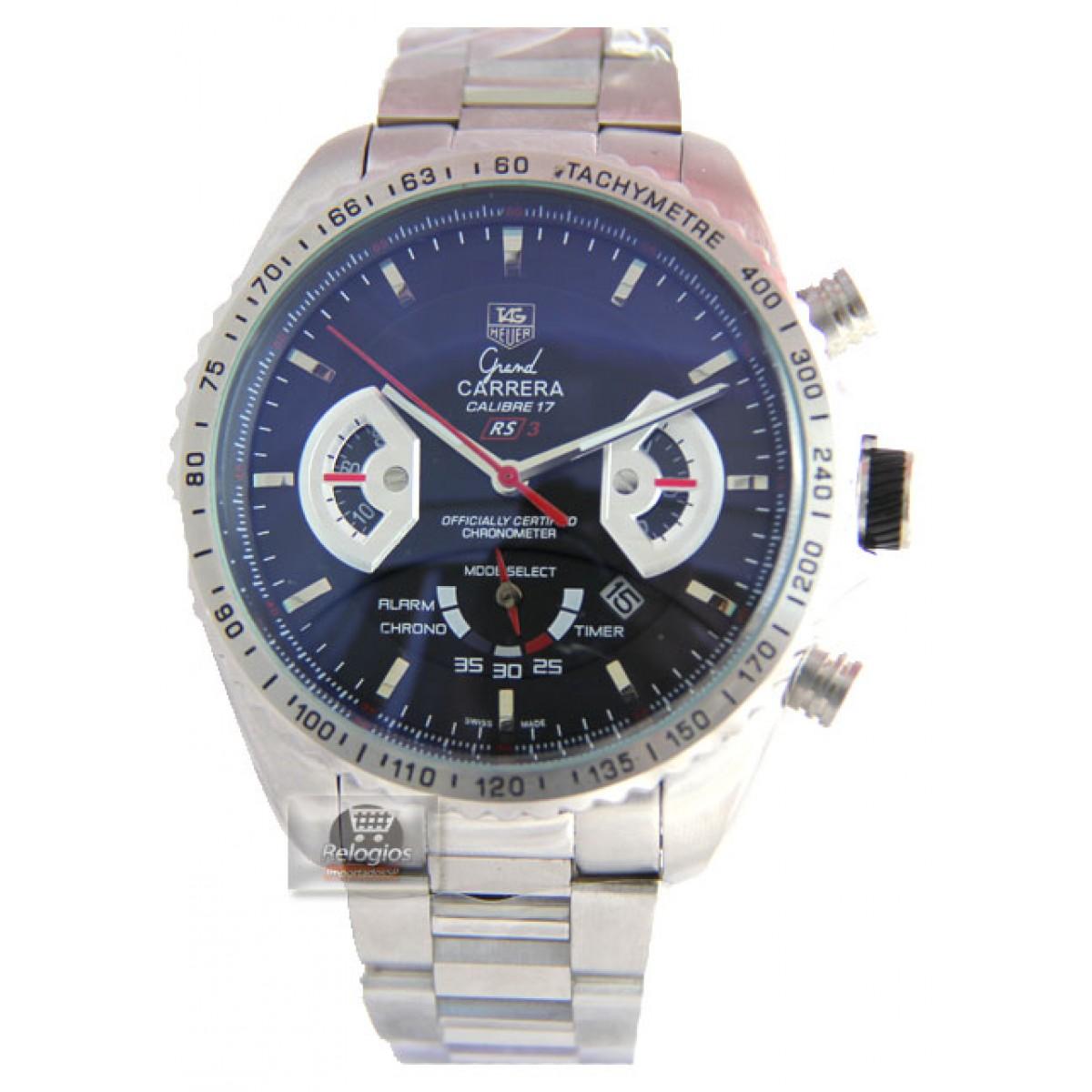 dd92a37c977 Relógio Réplica Tag Heuer Grand Carrera 17 Rs3