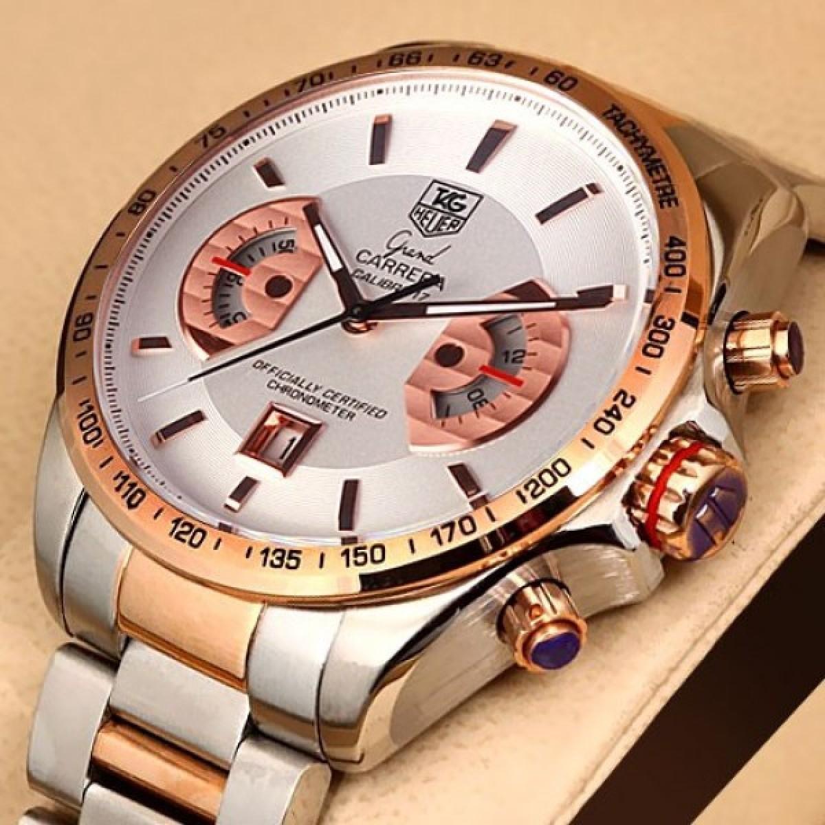 2e6667b8b11 Relógio Réplica Tag Heuer Grand Carrera Calibre17 Rose