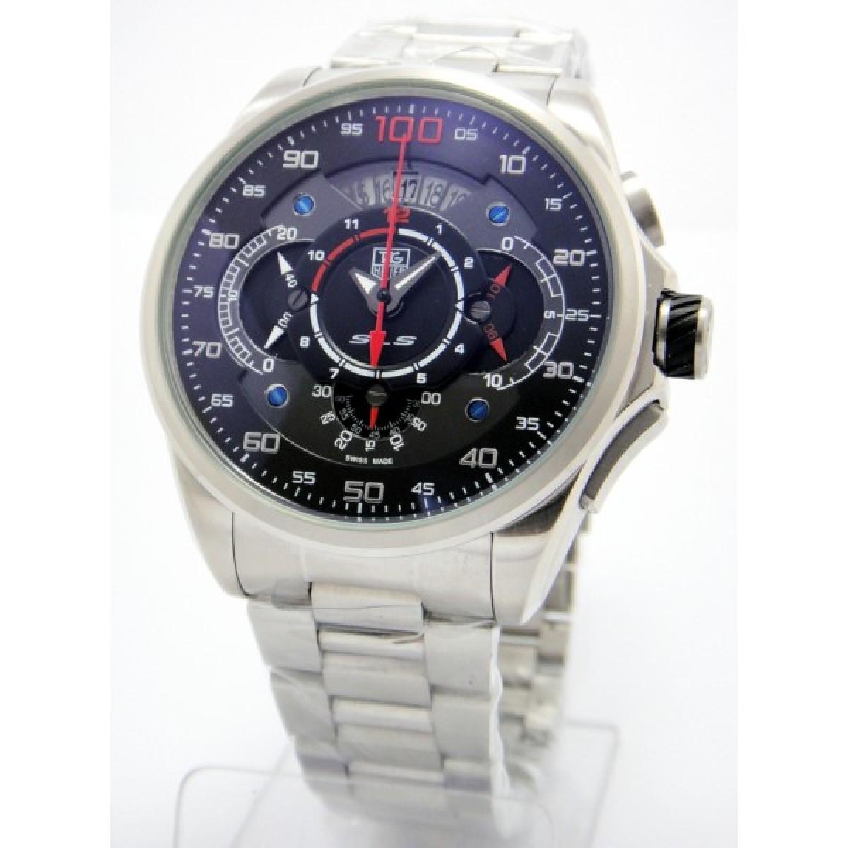 e7d4c502220 Relógio Réplica Tag Heuer Mercedes Benz-Slr 100 Preto Vermelho