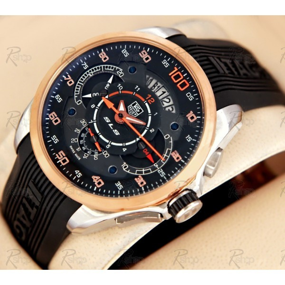 rel gio r plica tag heuer mercedes benz slr rose