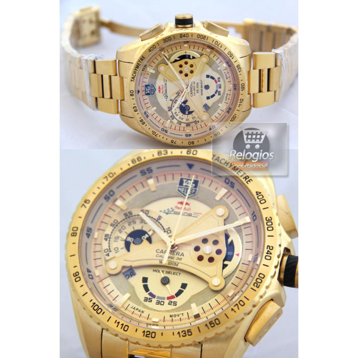 3560a53c012 Relógio Réplica Tag Heuer Racing Red Bull