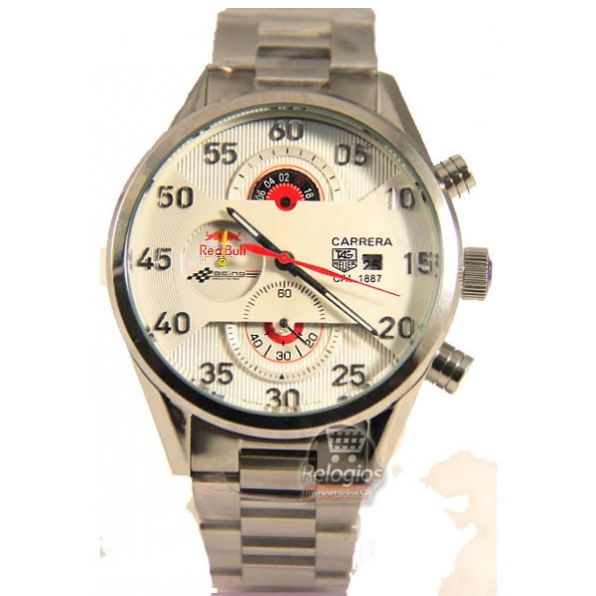 4bdf5b81556 Espiar · Relógio Réplica Tag Heuer Red Bull